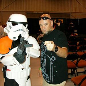 Shane with a Stormtrooper