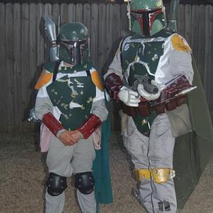 My sone made his own Fett after watching Dad. He is getting good..