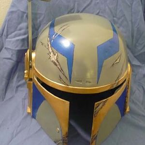 The second paint scheme for my helmet, just before I added some exterior parts and such.