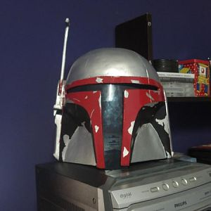 The result, i like, black, red, and the color of helmet, jango fett...