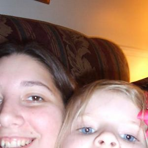Me and my niece Kaylee being silly.  She took this picture.