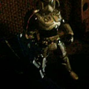 Proto1... This is a pretty cool bounty hunter I designed using the old school frankenstein action figure assembly (aka chop, glue, nuke).. I know it's not really mando but I'm prolly gonna make this life size.