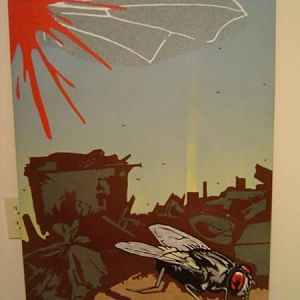 "The Death of a Housefly. 24"" x 36"" 11 Layers on masonite."