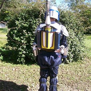 Back shot of my Jango Fett costume