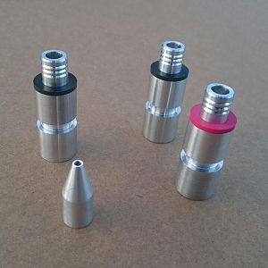 CNC Aluminum knee darts were made by my friend and veteran Hollywood prop maker Andy Meyers