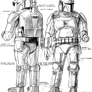 Boba Fett Concept Art by Joe Johnston