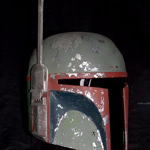 3/4 view ROTJ painted helmet